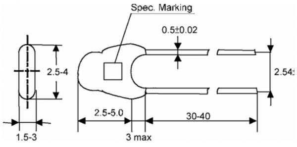 ATC Semitec ATC3 High Accuracy NTC Thermistor Technical Drawing