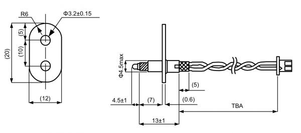 FRP2 Exposed NTC Temperature Sensor Drawing