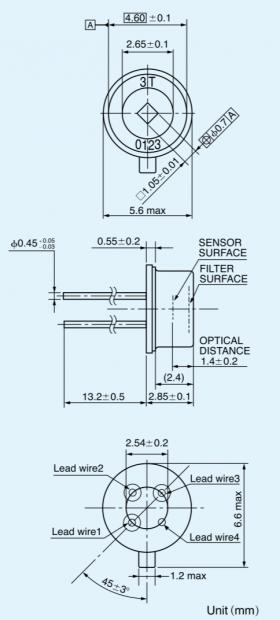 Thermopiles Non-Contact IR Sensor Drawing I ATC Semitec