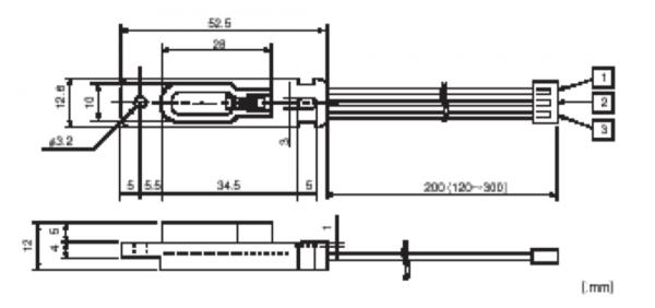 Non-Contact Sensor F-Type Drawing
