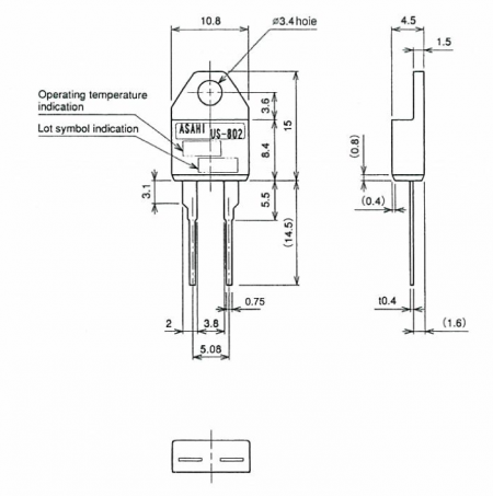 US-802 Compact Thermostat Drawing