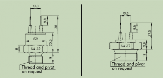 Special Thermal Switch Drawing