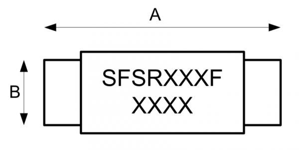 SFSR RESETTABLE PPTC Fuse Technical Drawing