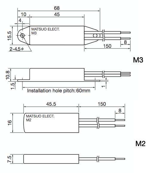 Matsuo M2 & M3 Technical Drawings