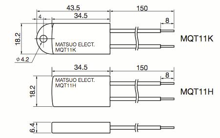 Matsuo MQT11 Technical Line Drawings