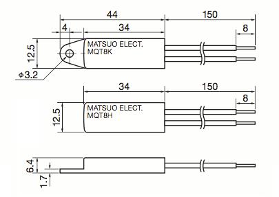 Matsuo MQT8 Technical Line Drawings