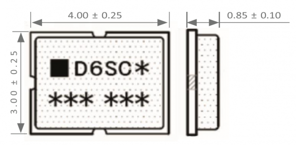 D6SC Ultra Thin SMD Logic Fuse Drawing