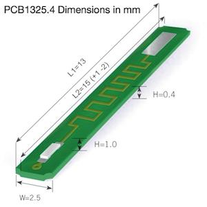 Pt1000 SMD element on a miniature p.c.b.