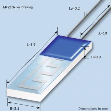 Heraeus M422 Dimensional Drawing